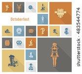 oktoberfest beer festival. long ... | Shutterstock .eps vector #483544774