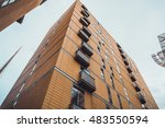 beautiful office building on a... | Shutterstock . vector #483550594