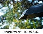 Rain  Close Up Of Umbrella In...