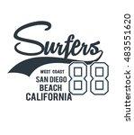 typography  t shirt graphics... | Shutterstock .eps vector #483551620