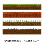 illustration of cross section... | Shutterstock .eps vector #483557674