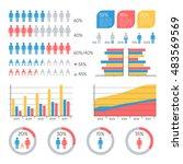 human infographic vector... | Shutterstock .eps vector #483569569