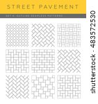 Set Of Outline Street Pavement...