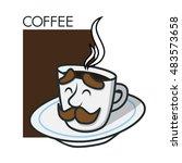 coffee cup   black coffee ... | Shutterstock .eps vector #483573658