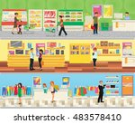 3 floor supermarket  food ... | Shutterstock .eps vector #483578410