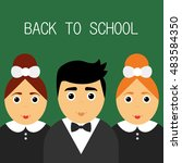 welcome back to school. cute... | Shutterstock .eps vector #483584350