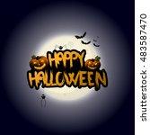 halloween background design and ... | Shutterstock .eps vector #483587470