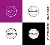 colorful organic logo | Shutterstock .eps vector #483590554