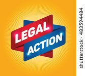 legal action arrow tag sign. | Shutterstock .eps vector #483594484