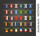 different color flags of...