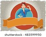 vector banner and label... | Shutterstock .eps vector #483599950