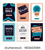 flat design eye catching sale... | Shutterstock .eps vector #483603484