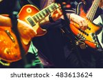 colorful rock and roll music... | Shutterstock . vector #483613624