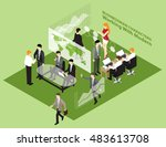 planning meeting management ... | Shutterstock .eps vector #483613708