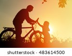 father and daughter having fun... | Shutterstock . vector #483614500