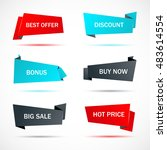 vector stickers  price tag ... | Shutterstock .eps vector #483614554
