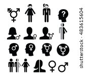 transgender symbol  gender... | Shutterstock .eps vector #483615604