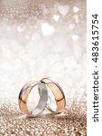romantic wedding ring... | Shutterstock . vector #483615754