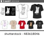 illustration of t shirt design... | Shutterstock .eps vector #483618046