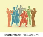 orchestra player graphic vector | Shutterstock .eps vector #483621274