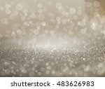gold and silver abstract... | Shutterstock . vector #483626983