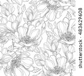 vector seamless pattern with... | Shutterstock .eps vector #483629608