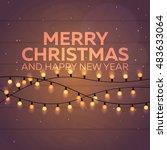 christmas poster. merry... | Shutterstock .eps vector #483633064