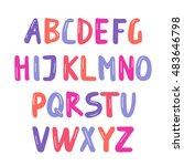vector alphabet.capital letters.... | Shutterstock .eps vector #483646798