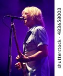 Small photo of Isle of Wight Festival - June 9th 2016: Rick Parfitt performing on stage with Status Quo at the I.o.W Festival, Newport, Isle of Wight, June 9, 2016 in Isle of Wight, UK