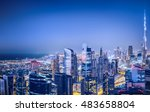 aerial panoramic view of a big... | Shutterstock . vector #483658804