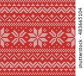 christmas knitting seamless... | Shutterstock .eps vector #483665104