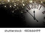 black 2017 new year shining... | Shutterstock .eps vector #483666499