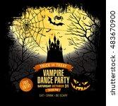 halloween party. vampire dance... | Shutterstock .eps vector #483670900