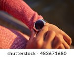 close up of young man wearing... | Shutterstock . vector #483671680
