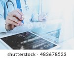 medical technology concept.... | Shutterstock . vector #483678523