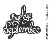 bye bye september  isolated... | Shutterstock .eps vector #483679150