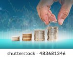 saving money concept. hand...   Shutterstock . vector #483681346