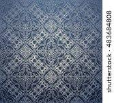 vintage ornamental classic... | Shutterstock .eps vector #483684808