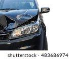 Front Of Black Car Get Damaged...