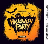 halloween party. vector... | Shutterstock .eps vector #483689689