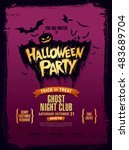 halloween party. vector... | Shutterstock .eps vector #483689704