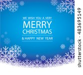 merry christmas and happy new... | Shutterstock .eps vector #483695149