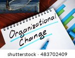 notepad with organizational... | Shutterstock . vector #483702409