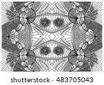 hand drawn abstract background... | Shutterstock .eps vector #483705043