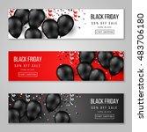 black friday sale horizontal... | Shutterstock .eps vector #483706180