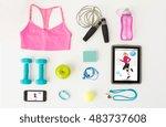 sport  fitness  healthy... | Shutterstock . vector #483737608