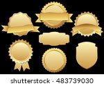 label vector icon set gold... | Shutterstock .eps vector #483739030