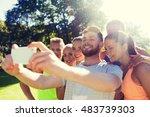 fitness  sport  friendship ... | Shutterstock . vector #483739303