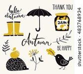 set of vector autumn design... | Shutterstock .eps vector #483768934