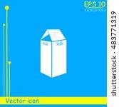 milk vector icon | Shutterstock .eps vector #483771319